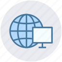 browser, earth, globe, lcd, lcd screen, world icon