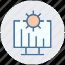 cogwheel, gear, graph presentation, lcd, monitor, presentation icon