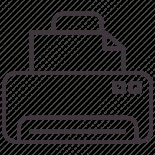 document, image, ink, machine, paper, print, printer icon