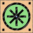 components, computer fan, computer hardware, fan, hardware, processor fan icon