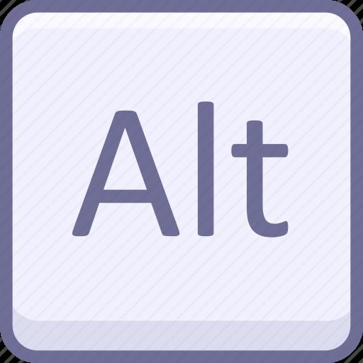 alt, key, keyboard icon