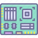 computer, hardware, motherboard icon