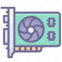chip, computer, display, hardware icon