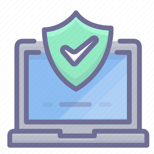 computer, protection, shield icon