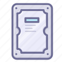 hard disk, harddisk, storage icon