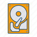 disk, drive, harddrive icon