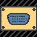 vga, connection, cable, vga cable icon