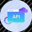 api, application, data, interface, internet, technology, web icon