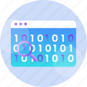 binary, code, data, digital, encryption, programming, technology icon