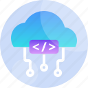 cloud, code, coding, digital, internet, network, technology icon