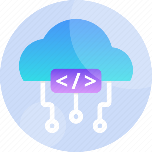 cloud, code, coding, digital, internet, network, technology icon