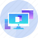 computer, digital, display, isolated, monitor, screen, technology icon
