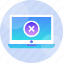 computer, critical, error, problem, sign, system, warning icon