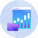 background, data, digital, document, graph, interface, technology icon