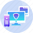 data, hardware, network, protection, safety, security, technology icon
