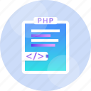 code, computer, html, language, php, programming, web icon