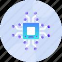 chip, circuit, cpu, hardware, microchip, processor, unit icon