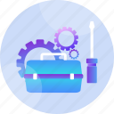equipment, maintenance, mechanic, repairing, screwdriver, tools, wrench icon