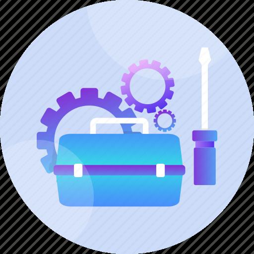 equipment, maintenance, mechanic, repairing, screwdriver, tools, wrench icon