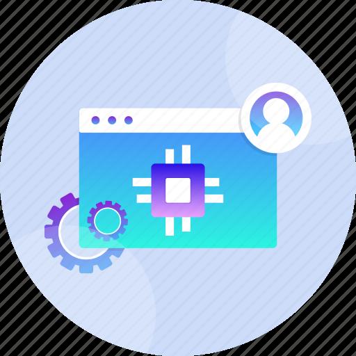 computer, developer, engineer, programmer, programming, software, technology icon