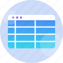 business, chart, data, design, element, row, table