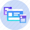 design, experience, interface, layout, user, ux, wireframe icon