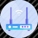 broadband, hardware, lan, modem, router, wifi, wireless icon