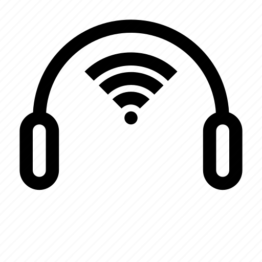 audio, headphones, headset, wireless, wireless audio, wireless headphones, wireless headset icon