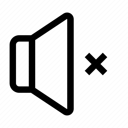 multimedia, music, mute, off, silence, speaker, volume icon