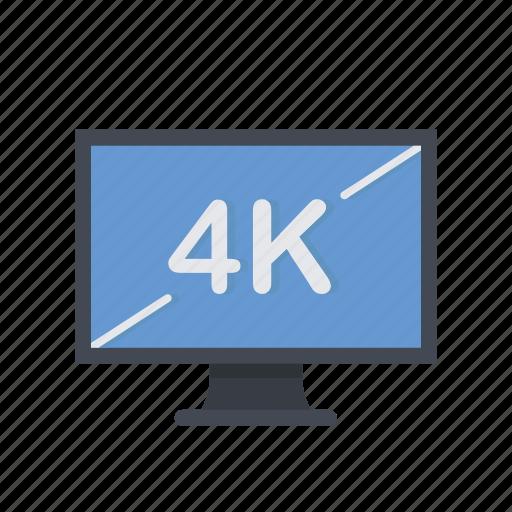 4k, display, lcd, monitor, screen icon