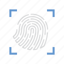 biometric, fingerprint, scan, security icon