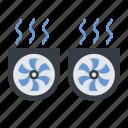 boost mode, cooling, dual fan, fan, gaming mode icon