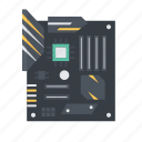 computer, hardware, mainboard, motherboard icon