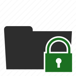 computer, files, folder, locked, private, secure icon