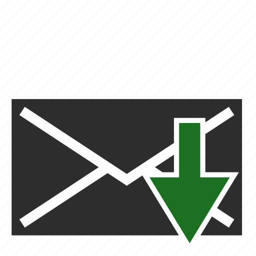 computer, email, inbox, receive icon