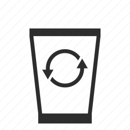 bin, can, computer, empty, garbage, trash icon