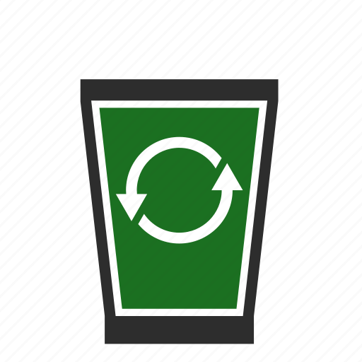 bin, can, computer, full, recycle, trash, waste icon