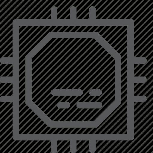 chip, computer, cpu, gpu, hardware, microchip, processor icon