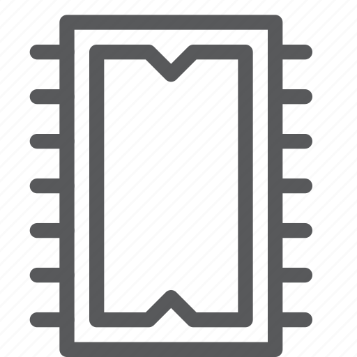 computer, hardware, memory, memorychip, part, ram icon