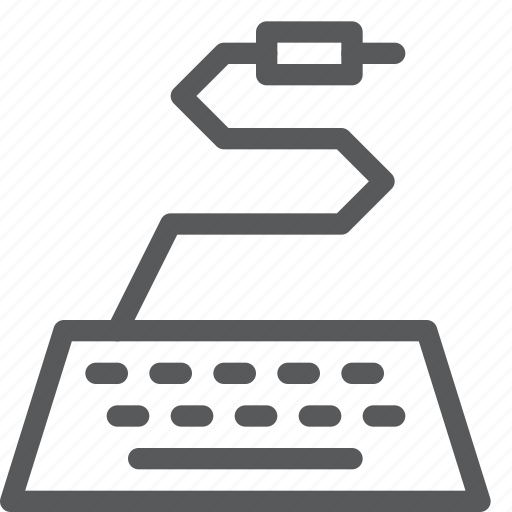 cable, computer, electronic, input, keyboard, type, wireless icon