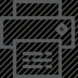 computer, copier, document, office, paper, print, text icon