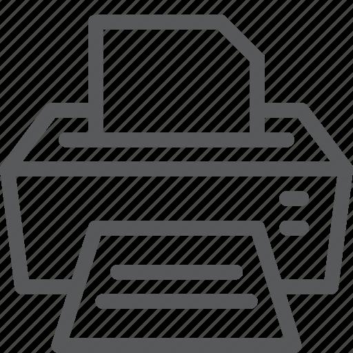 computer, copier, document, machine, office, print, text icon