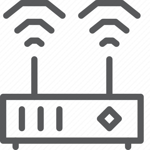 computer, connect, internet, router, signal, wifi, wireless icon