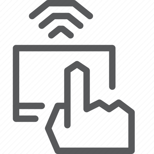 computer, hand, mouse, signal, touchpad, wifi, wireless icon