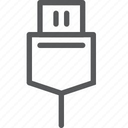 computer, connect, drive, head, plug, stick, usb icon