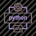 code, development, programming, python icon