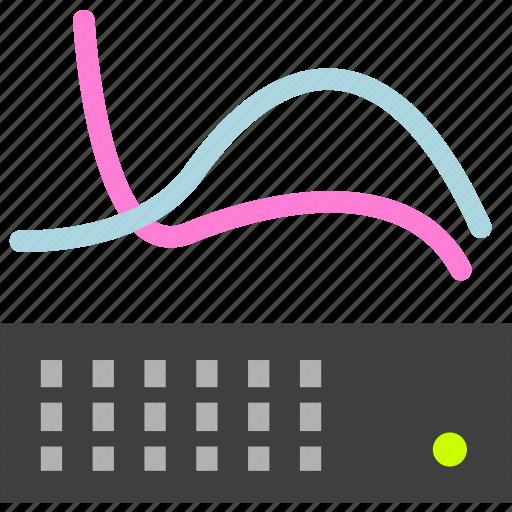 analysis, burden, discharge, flow, load, statistics icon