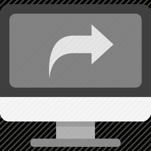 computer share, share, share computer icon