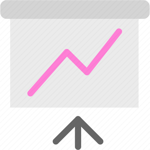 analysis, powerpoint, slideshow, statistics, trend icon