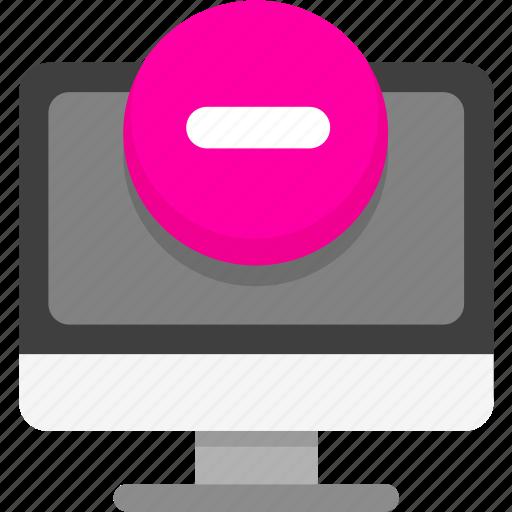 computer, computer access, computer blocked icon